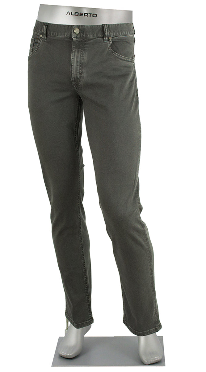 ALBERTO JEANS STONE SUPER STRETCH COLORED DENIM CHARCOAL ST1688-980 1688