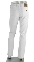 STONE LINEN/COTTON STRETCH WHITE