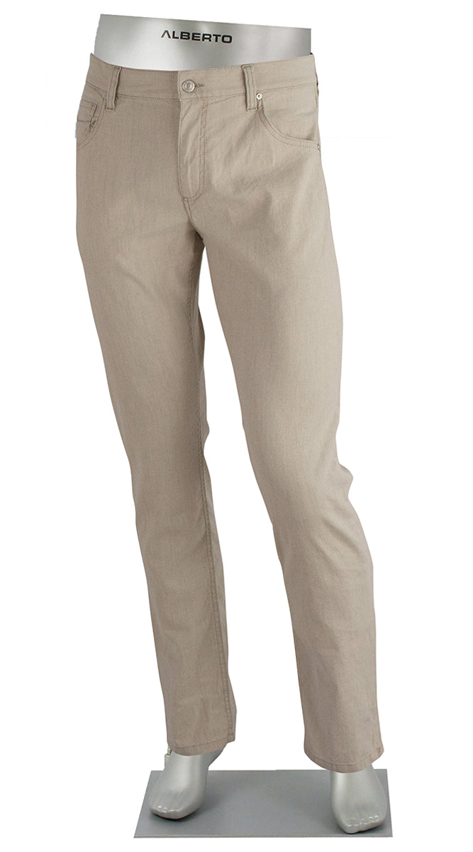 STONE LINEN/COTTON STRETCH FAWN