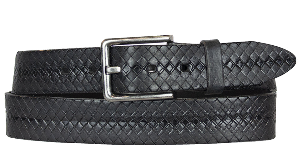 MINI DIAMOND TWO TONE BLACK BELT