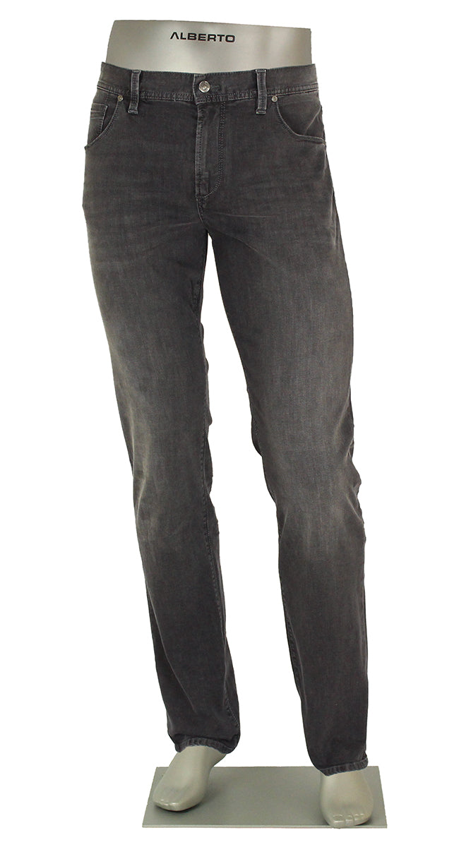 ALBERTO JEANS PIPE DENIM SUPER STRETCH CHARCOAL P1687-990 1687 GREY