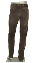 ALBERTO JEANS PIPE DENIM SUPER STRETCH DARK BROWN P1487-590 1487