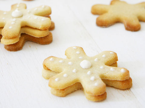 10 Christmas Cookie Recipes For Dogs  snowflake shortbread dog treat recie by pretty fluffy Patchwork Pet Dog Blog