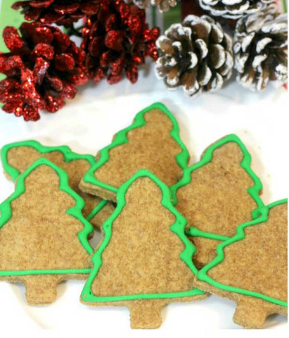 10 Christmas Cookie Recipes For Dogs christmas tree dog cookies Patchwork Pet Dog Blog