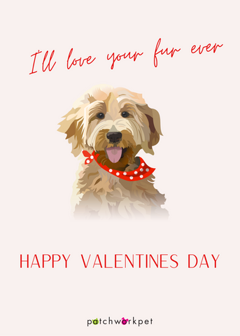 I'll love you furever valentines day card