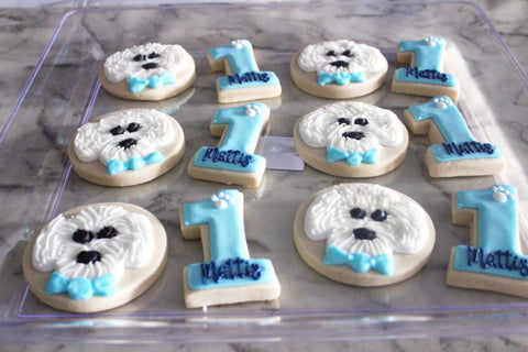 Spotted dog bakery dog birthday cookies