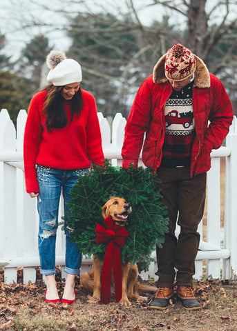 Christmas Card Ideas with your dog Patchwork pet dog blog Kiel James Patrick Photos with Dogs