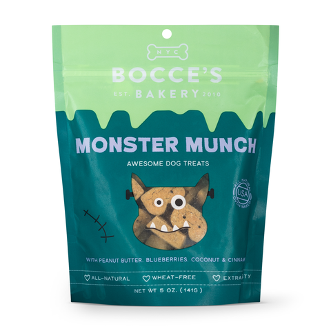 Fall gift guide for dog lovers Bocces Bakery Monster Munch dog treats patchwork pet dog blog