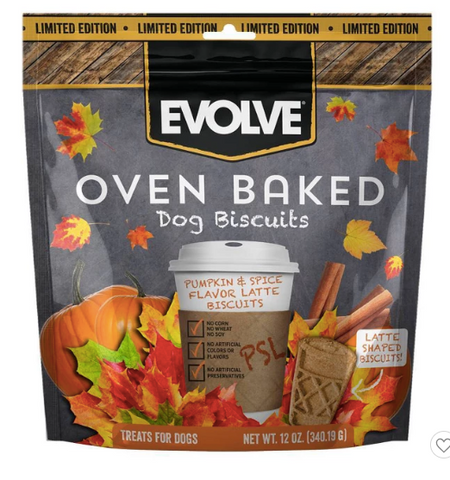 Fall gift guide for dog lovers Evolve pumpkin spice latte  dog treats patchwork pet dog blog