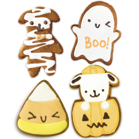 Fall themed gift guide for dog lovers bobby and bambis dog bakery Halloween cookies.