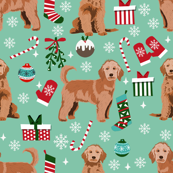 Holiday 2019 gift guide for goldendoodles and goldendoodle lovers goldendoodle gift wrapping paper patchwork pet dog blog