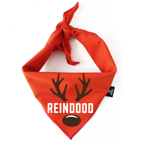 2019 Holiday and Christmas gift guide for goldendoodles and goldendoodle lovers ripley and rue Reindod Reindeer dog bandana christmas and holiday Patchwork Pet Dog blog