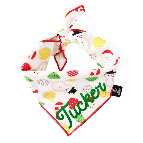 2019 Holiday and Christmas gift guide for goldendoodles and goldendoodle lovers ripley and rue sugar cookie dog bandana christmas and holiday Patchwork Pet Dog blog