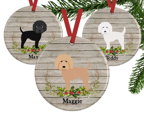 Personalized doodle Christmas Ornaments holiday 2019 christmas and holiday gifts for goldendoodles and goldendoodle lovers patchwork pet dog blog