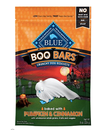 Fall gift guide for dog lovers blue buffalo boo bars dog treats patchwork pet dog blog.png