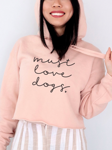 must love dogs cropped hoodie