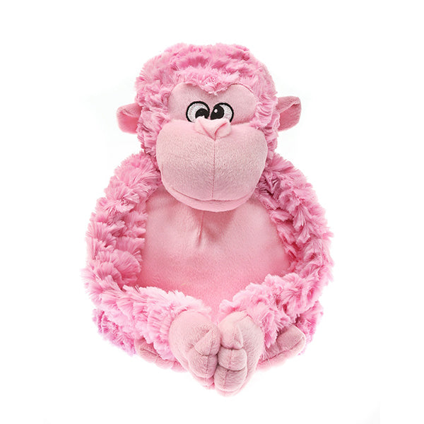 Patchwork Pet Pink Gorilla Plush Dog Toy