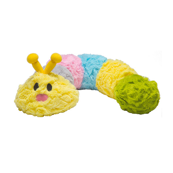 Patchwork Pet Plush Caterpillar Dog Toy