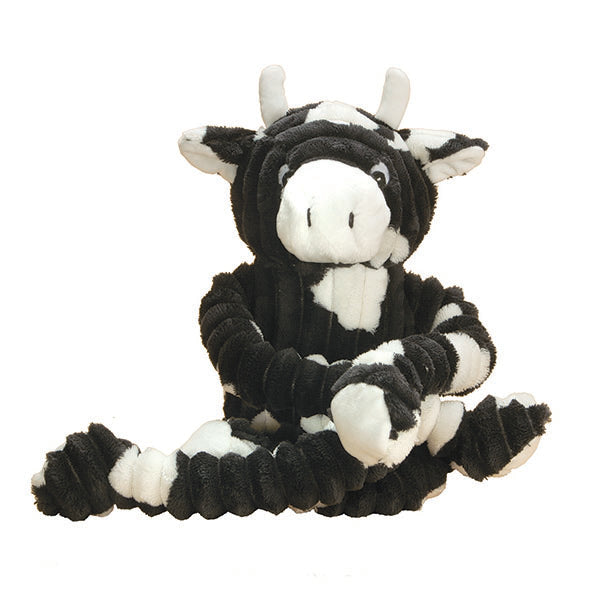 Patchwork Pet Plush and Tug Cow Dog Toy