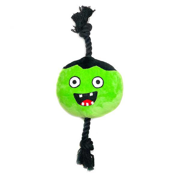 Halloween trendy plush dog toys Zombie ball patchwork pet plush dog toys