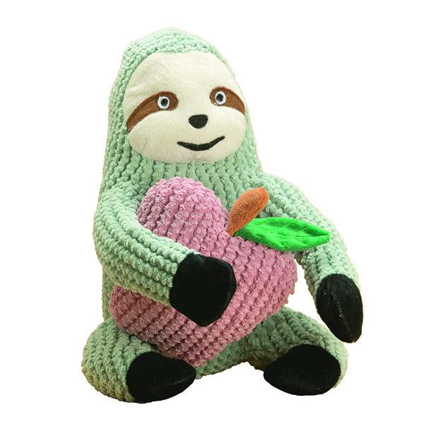 Interactive dog toys sydney the sloth patchwork pet dog toy