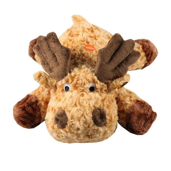 Moose Plush Dog Toy TRendy and cute dog toys patchwork pet plush dog toys