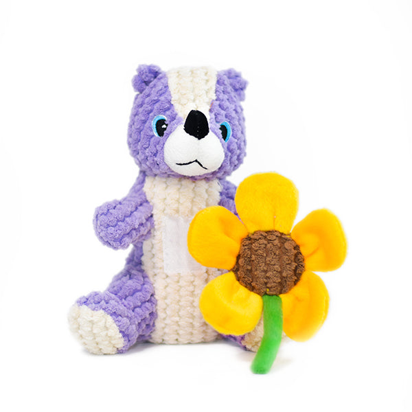 Patchwork Pet plush Dog Toys Blossom the skunk interactive dog toy