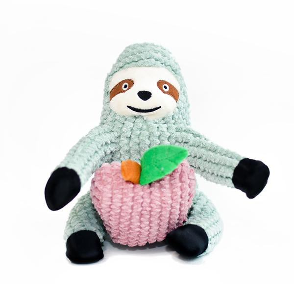 Plush dog toys by patchwork pet Interactive dog toys sydney the sloth patchwork pet dog toy