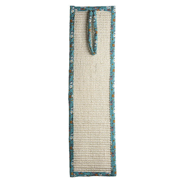 Floral Teal Cat Scratcher- Cat Toy