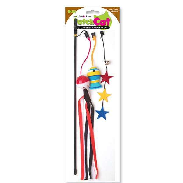 Gone Fishing Black Cat Wand- Cat Toy
