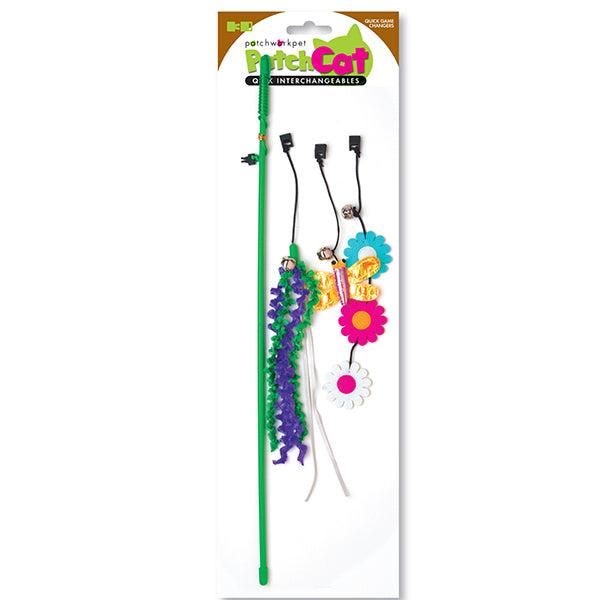 Spring Fling Green Cat Wand- Cat Toy