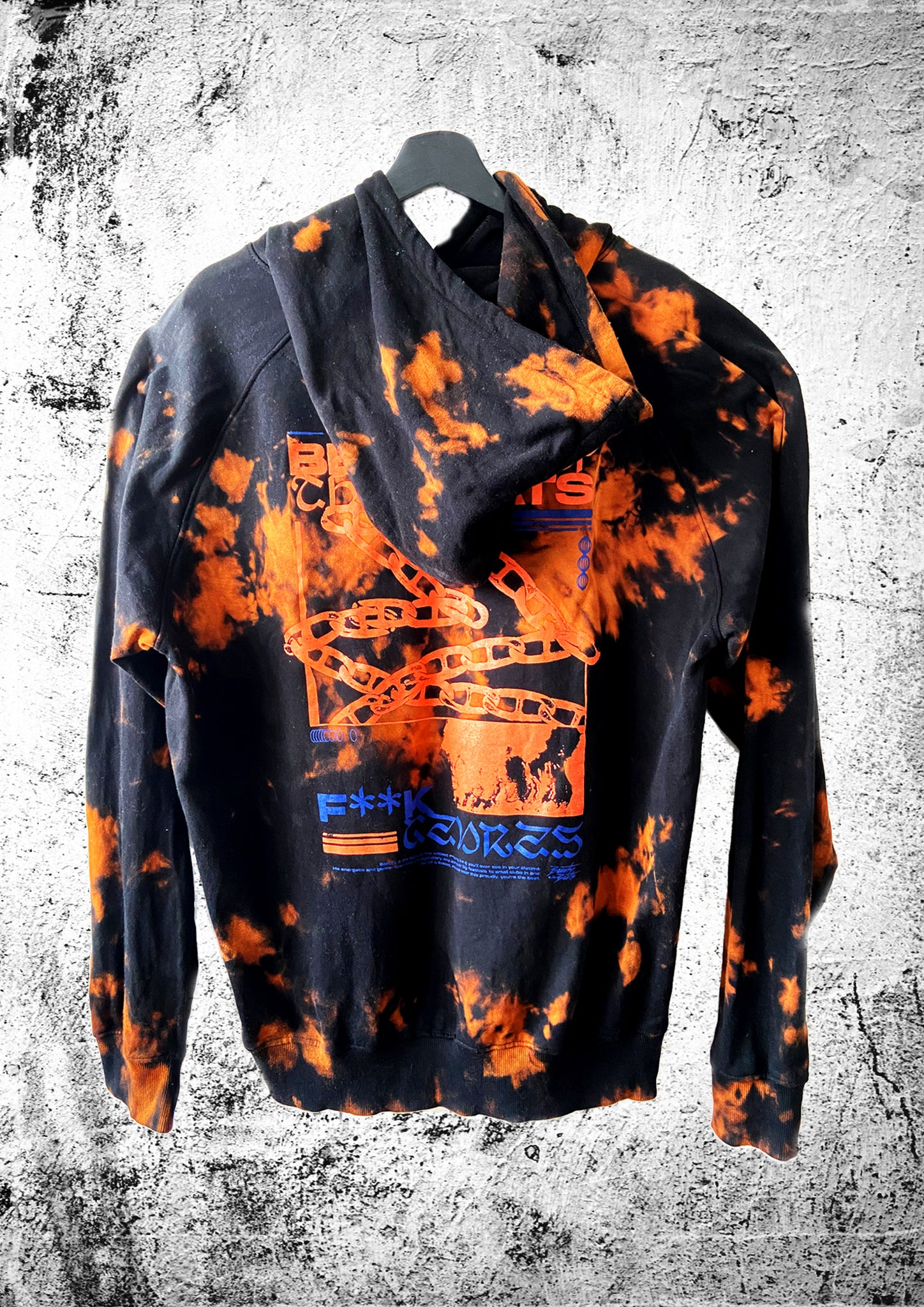 "Beauty & the Beats ""Batik"" Hoodie black/orange unisex"