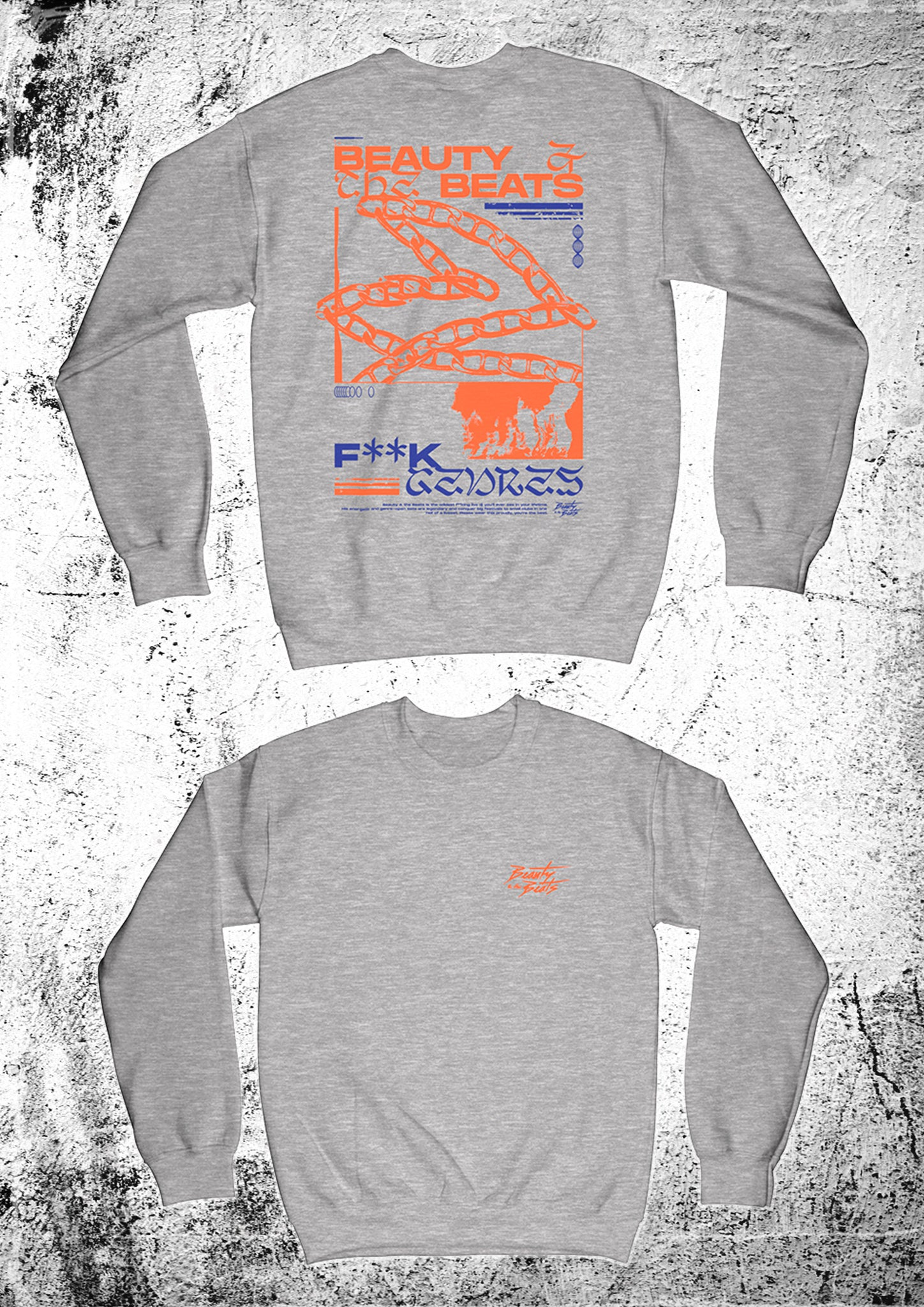 "Beauty & the Beats ""Energy"" Crewneck grey unisex"