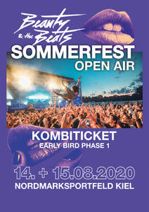 Early Bird Phase 1 Kombiticket (Fr. + Sa.) Sommerfest Open Air Kiel 2020
