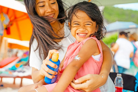 Sing Or Make a Fun Disctraction While Applying Toddler's Sunscreen