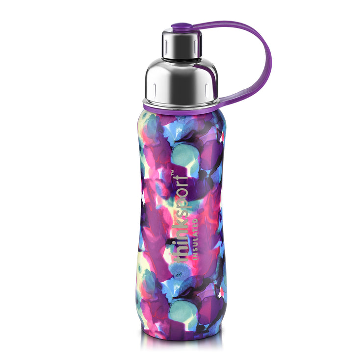 Artist Series Thinksport Insulated Sports Bottle - 17oz (500ml) - Purple Bubbles
