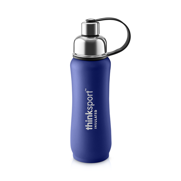 Thinksport Insulated Sports Bottle - 17oz (500ml) - Powder Coated - Blue