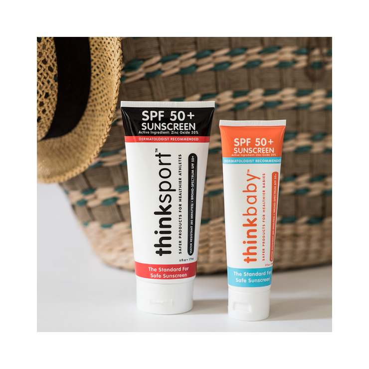 Thinksport Safe Sunscreen SPF 50+ (6oz) - Family Size