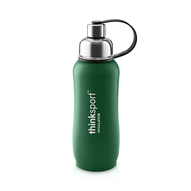 Thinksport Insulated Sports Bottle - 25oz (750ml) - Powder Coated - Green