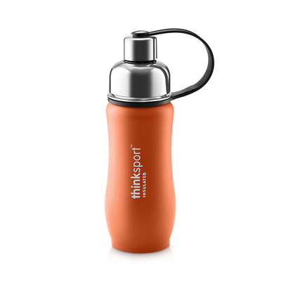 Thinksport Insulated Sports Bottle - 12oz (350ml) - Powder Coated - Orange