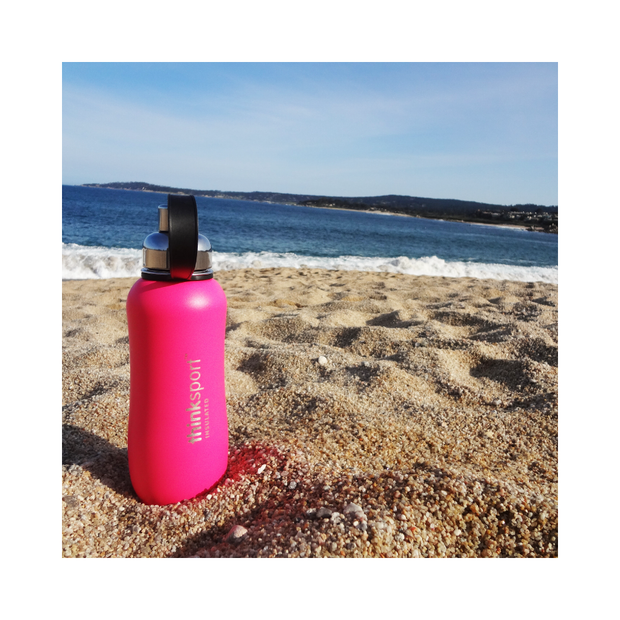 Thinksport Insulated Sports Bottle - 25oz (750ml) - Powder Coated - Hot Pink