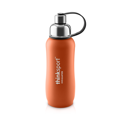 Thinksport Insulated Sports Bottle - 25oz (750ml) - Powder Coated - Orange