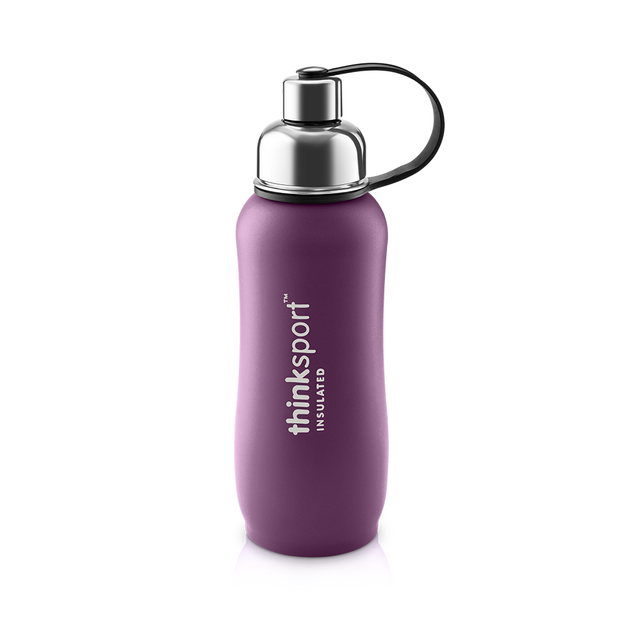Thinksport Insulated Sports Bottle - 25oz (750ml) - Powder Coated - Purple