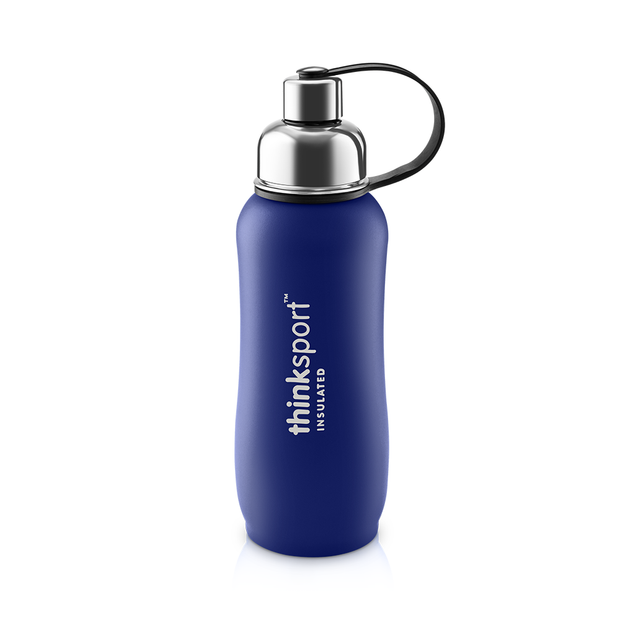 Thinksport Insulated Sports Bottle - 25oz (750ml) - Powder Coated - Blue