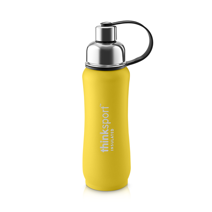 Thinksport Insulated Sports Bottle - 17oz (500ml) - Powder Coated - Yellow