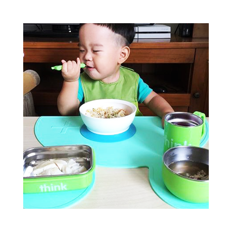 The Complete BPA Free Feeding Set - Lt. Green