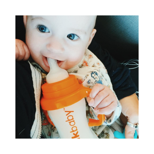 Converts Baby Bottle to Sippy Cup - Orange