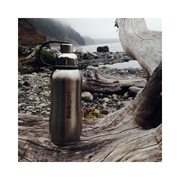 Thinksport Insulated Sports Bottle - 25oz (750ml) - Natural Silver