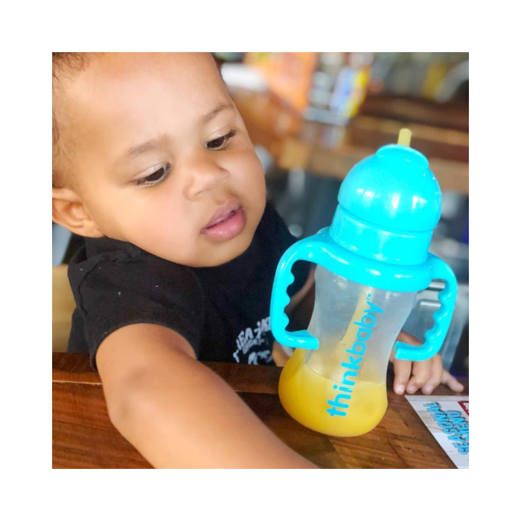 Converts Sippy Cup to Straw Bottle - Lt. Blue