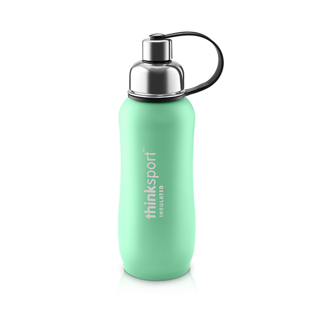 Thinksport Insulated Sports Bottle - 25oz (750ml) - Powder Coated - Mint Green